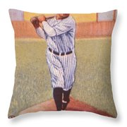 Babe Ruth (1895-1948) Throw Pillow