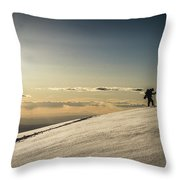 Back Country Skiing In The La Sal  Mountains, Utah. Throw Pillow