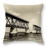 Bahia Honda Bridge Throw Pillow