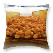 Baked Beans On Toast Throw Pillow