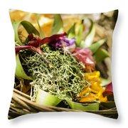 Bali Offerings Throw Pillow