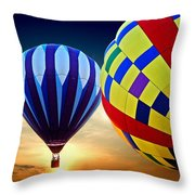 2 Balloons Throw Pillow