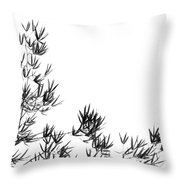 Bamboo Tree And Leaves Throw Pillow