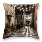 Bank Street Downtown Bristol Throw Pillow