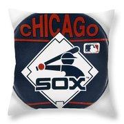 Baseball Button Throw Pillow