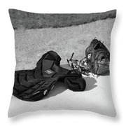 Baseball Glove And Chest Protector Throw Pillow