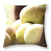 Basket Of Apples Throw Pillow