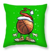 Basketball Christmas Throw Pillow