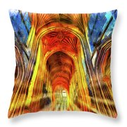 Bath Abbey Sun Rays Art Throw Pillow