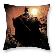 Batman Begins 2005 Throw Pillow