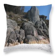Bay Of Fires. Tasmania Throw Pillow