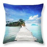 Agios Sostis Throw Pillow