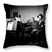 Beck And Philip Glass Photographed By Anna Webber, September 23rd, Throw Pillow