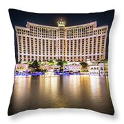 Bellagio Hotel On Nov, 2017 In Las Vegas, Nevada,usa. Bellagio I Throw Pillow