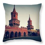 Berlin - Oberbaum Bridge Throw Pillow