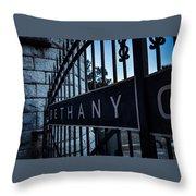 Bethany Cemetery Throw Pillow