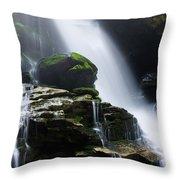 Big Bradley Falls North Carolina Throw Pillow
