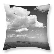 Black And White Blue Ridge Mountains Throw Pillow