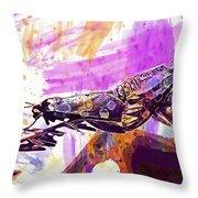 Black Butterflies Butterfly  Throw Pillow