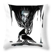 Black. Throw Pillow