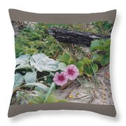 2 Blooms Throw Pillow