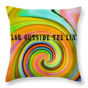 Spiraling Glass Quote Throw Pillow