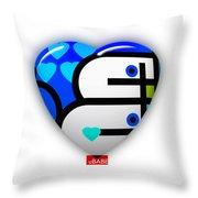 Blue Heart Throw Pillow
