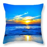 Blue Heaven #3 Throw Pillow