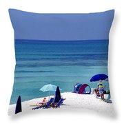 Blue Mountain Beach Throw Pillow