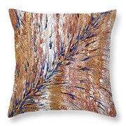 Blue Streak Throw Pillow