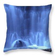 Blue Waterfall Throw Pillow
