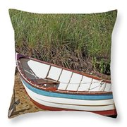 Boat And Anchor Throw Pillow