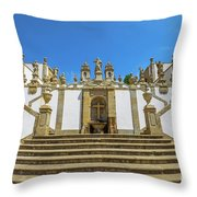 Bom Jesus Staircase Braga Throw Pillow