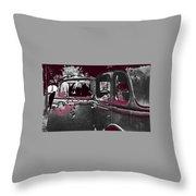Bonnie And Clyde Death Car South Of Gibsland Toward Sailes Louisiana May 23 1933-2013 Throw Pillow