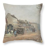Boulevard Heloise Argenteuil Throw Pillow