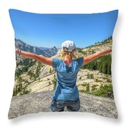 Break After Yosemite Hiking Throw Pillow