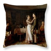 Breaking Home Ties Throw Pillow