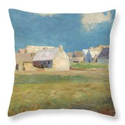 Breton Village Throw Pillow