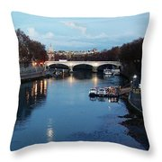 Bridge In Rome Throw Pillow