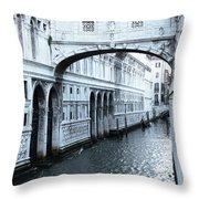 Bridge Of Sighs, Venice, Italy Throw Pillow