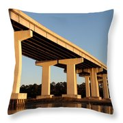 Bridge Pilings Throw Pillow