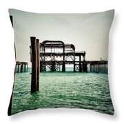 Brighton West Pier Throw Pillow