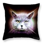 British Shorthair Cat Throw Pillow