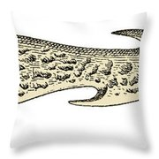 Bronze Age Barbed Point Harpoon Throw Pillow