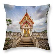 Buddhist Temple Throw Pillow by Adrian Evans