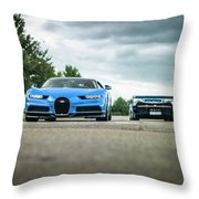 Bugatti Chiron And Vision Gt Throw Pillow