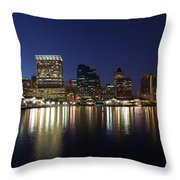 Buildings At The Waterfront, Inner Throw Pillow