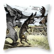 Bull Moose Campaign, 1912 Throw Pillow