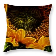 Burning Sun.. Throw Pillow