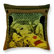 Butcher, Medieval Tradesman Throw Pillow